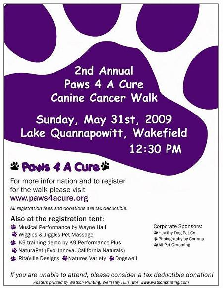 Paws 4 a Cure Walk - May 31, 2009