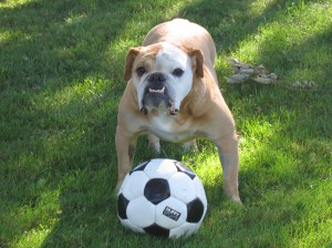 Georgia with her soccer ball